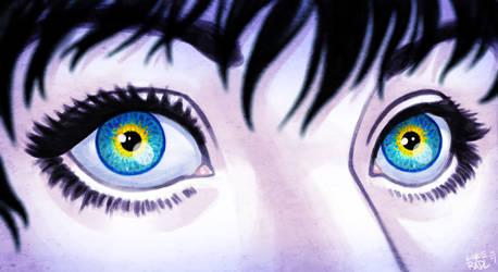 Meg's Sunflower Eyes by lukeradl