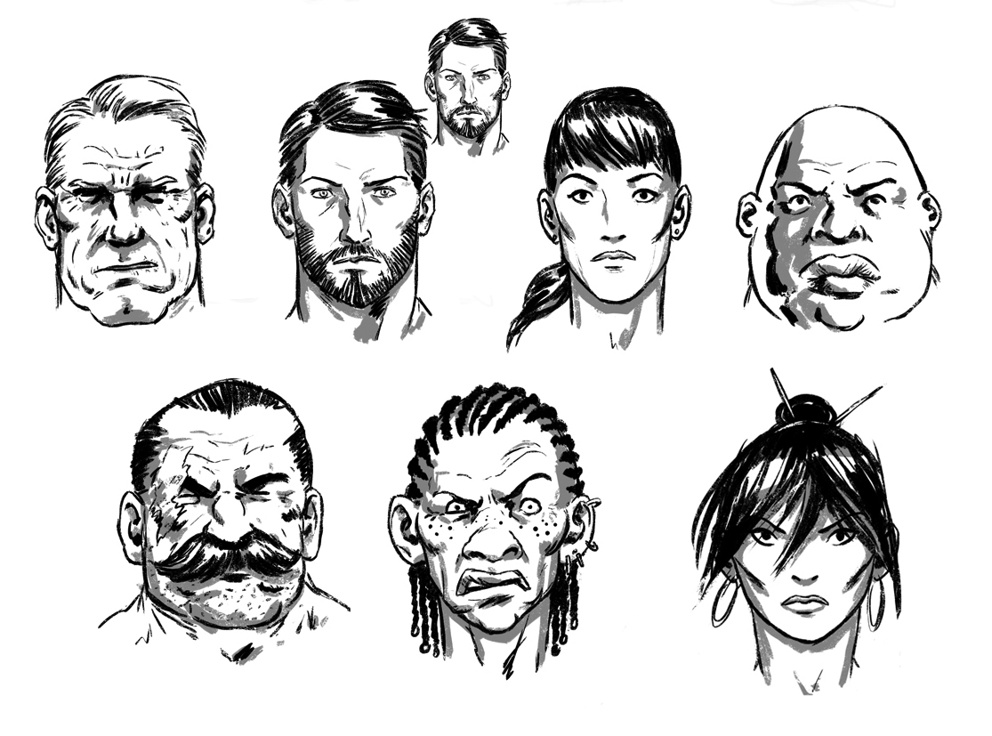 how to draw comic book style faces