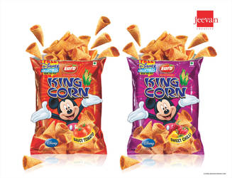 Euro King Corn Snack Design by jeevancreative