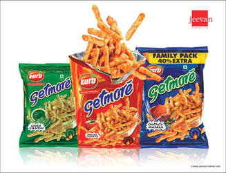 Euro Getmore Snack Sticks Design by jeevancreative