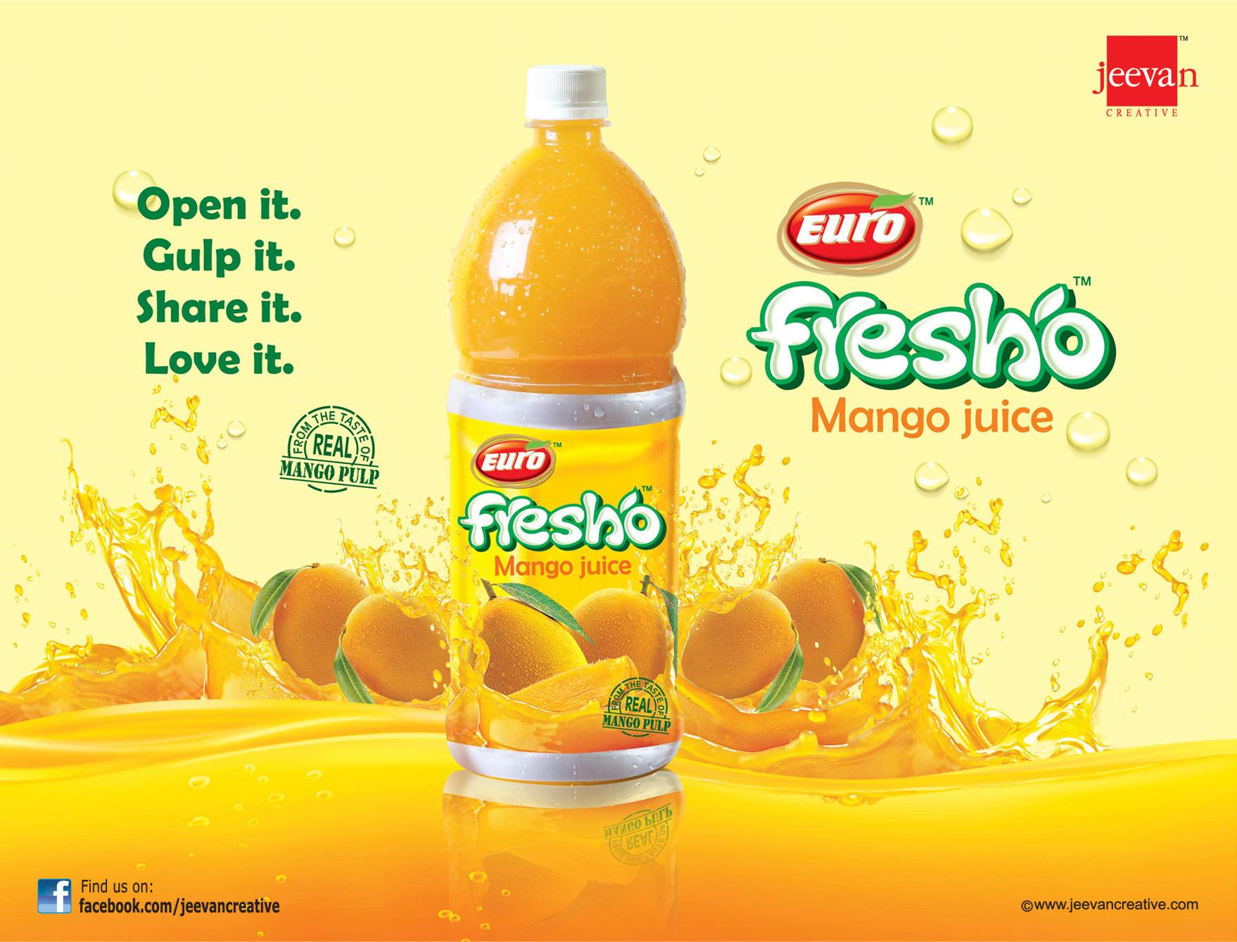 Euro Fresho Mango Juice by jeevancreative