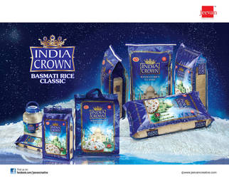 INDIA CROWN BASMATI RICE by jeevancreative