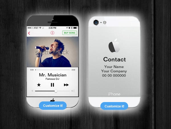 Iphone business card for musicians and djs by montasy on deviantart reheart Gallery