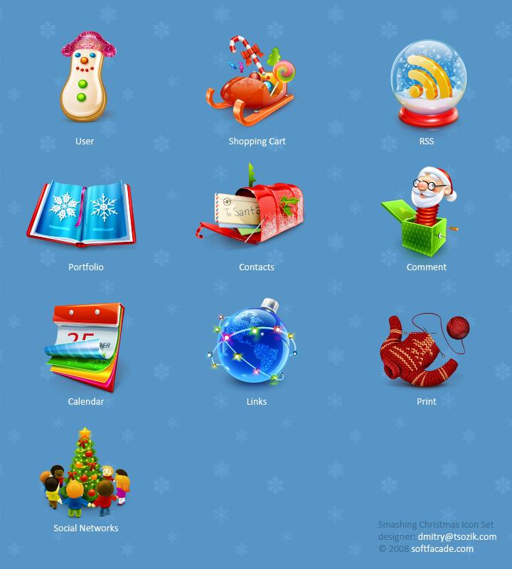 Smashing Christmas Icon Sets by lambda