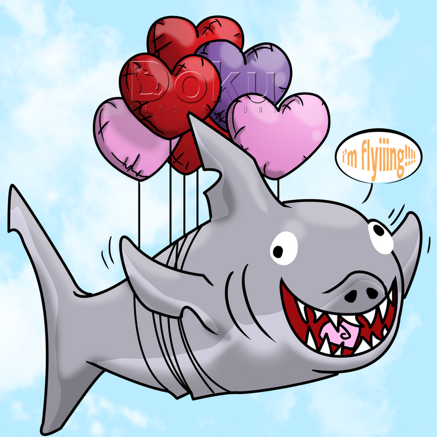 Heart Balloon Shark by DokuPRODUCTIONS