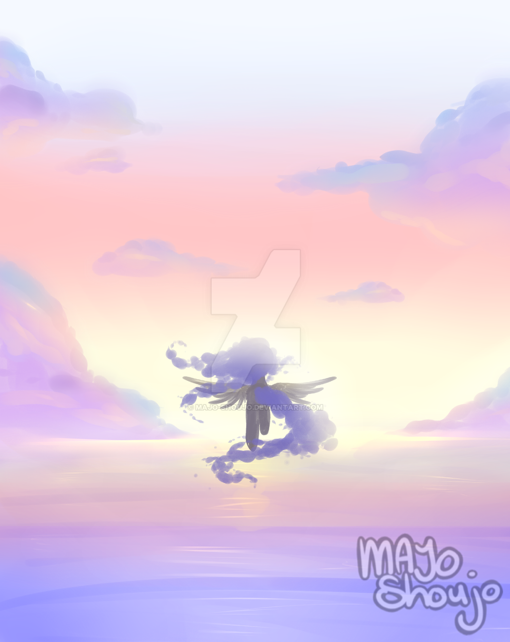Sunset ~ { Paint Practice } by Majo-Shoujo