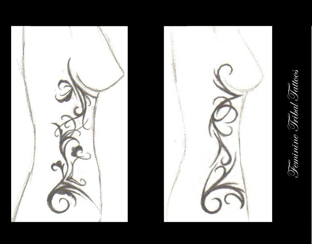 Feminine Tribal Tatto: Feminine Tribal Tattoos By Truly-devoted On DeviantArt
