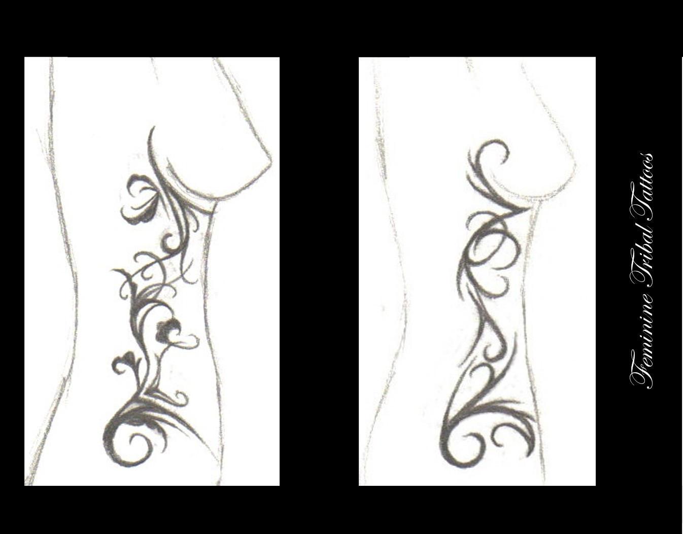 feminine tribal tattoos by truly devoted on deviantart. Black Bedroom Furniture Sets. Home Design Ideas