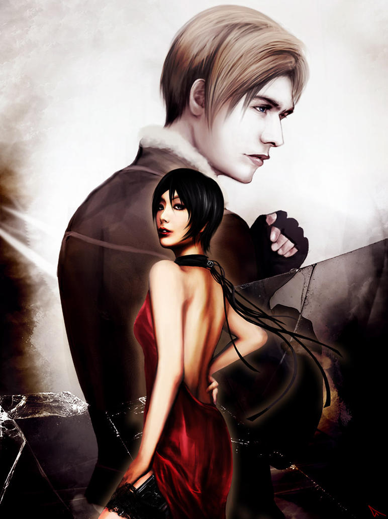 Ada and Leon_Resident Evil 4 B by Kunoichi1111