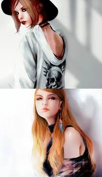 Chloe Price and Rachel Amber
