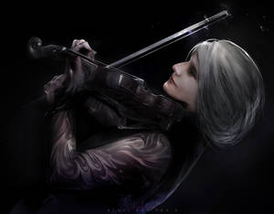 Playing the violin_V