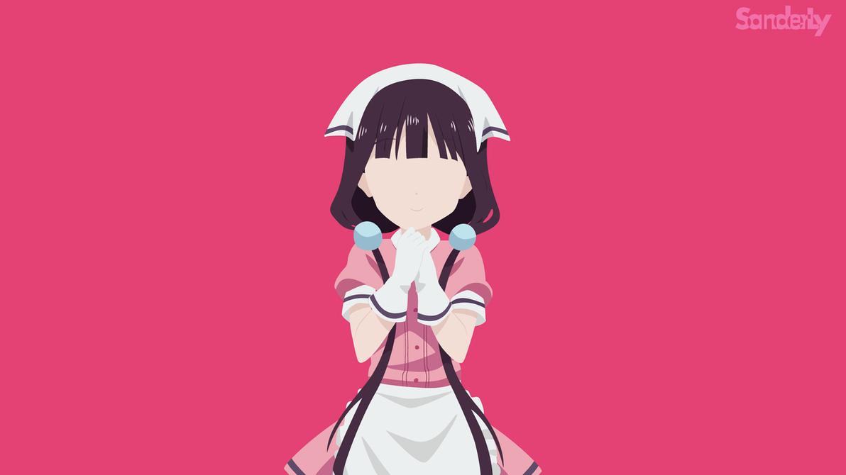 [Minimalist vector] Sakuranomiya Maika by SanderLy