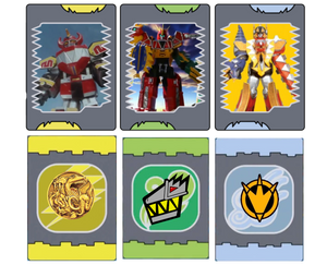 Power Rangers Dinosaur King  Megazord Cards