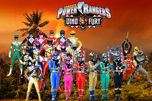Power Rangers Dino Fury Fan Made Wallpaper