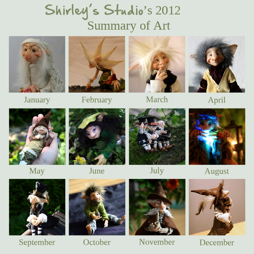 2012 Art Summary by ShirleysStudio