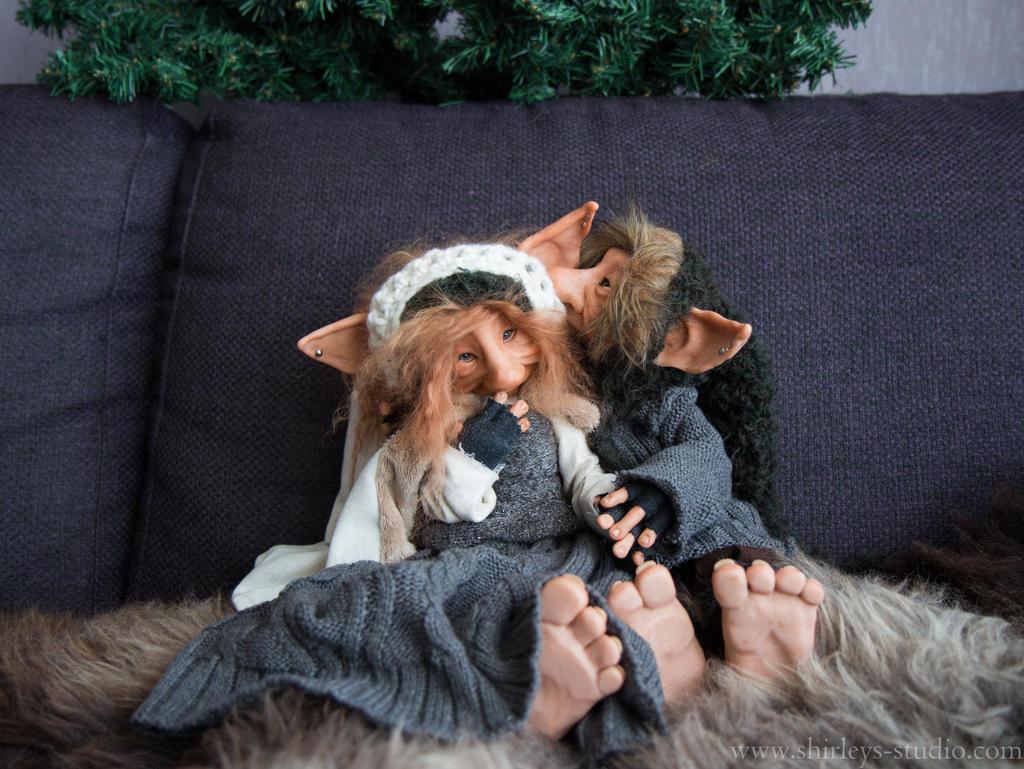 Troll couple Aereon and Maewynn by ShirleysStudio