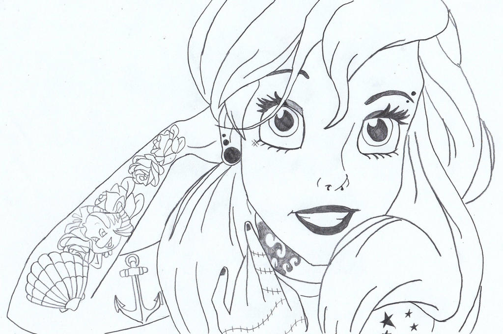 Disney Coloring Pages Tumblr : Punk ariel by lasconi on deviantart