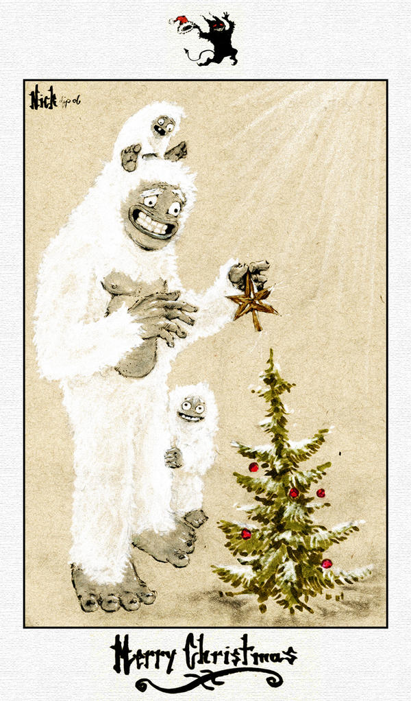 hairy christmas, yeti new year by nicktheartisticfreak on DeviantArt