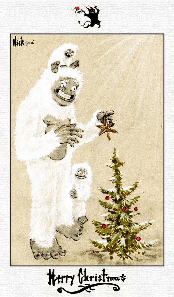 hairy christmas, yeti new year by nicktheartisticfreak on DeviantArt