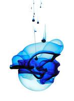 Blue Ink in Water by kokoShadow