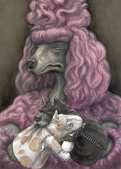 Poodle with Puttbill Puppets