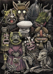 Group Picture Masked Ball by Puttbill