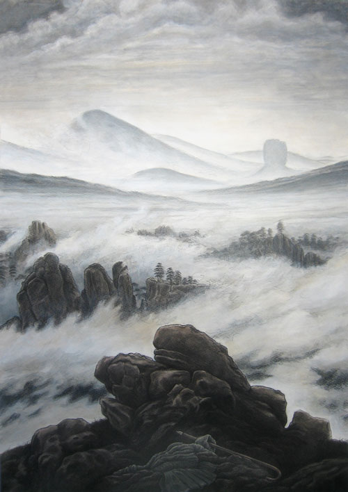 Wanderer above the sea of fog essays