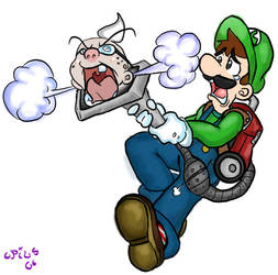 Luigi's mansion: Vacuum mishap