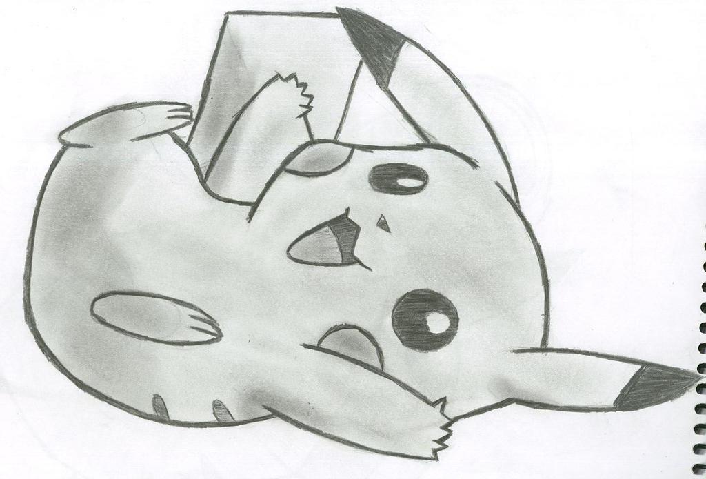 Pikachu crying drawing - photo#2