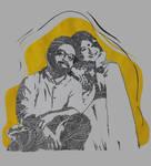 Couple mandala portrait illustration by MUMTAHA