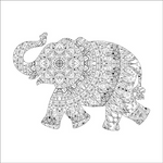 Black-elephant-coloring page by MUMTAHA