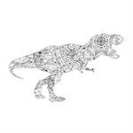 Black-dinosaur-coloring page by MUMTAHA