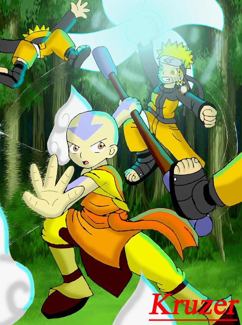 Aang Vs. Naruto 2012 edition by KCruzer on DeviantArt Naruto Vs Avatar