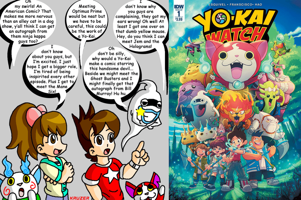 The Yo-Kai Watch cast react to the IDW comic by KCruzer