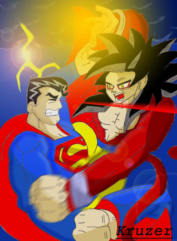 SuperMan Vs. Goku by KCruzer