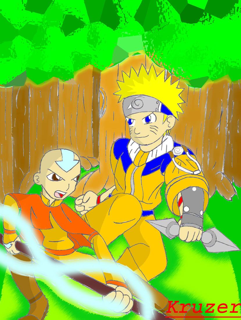 Aang Vs. Naruto by Kruzer on DeviantArt Naruto Vs Avatar