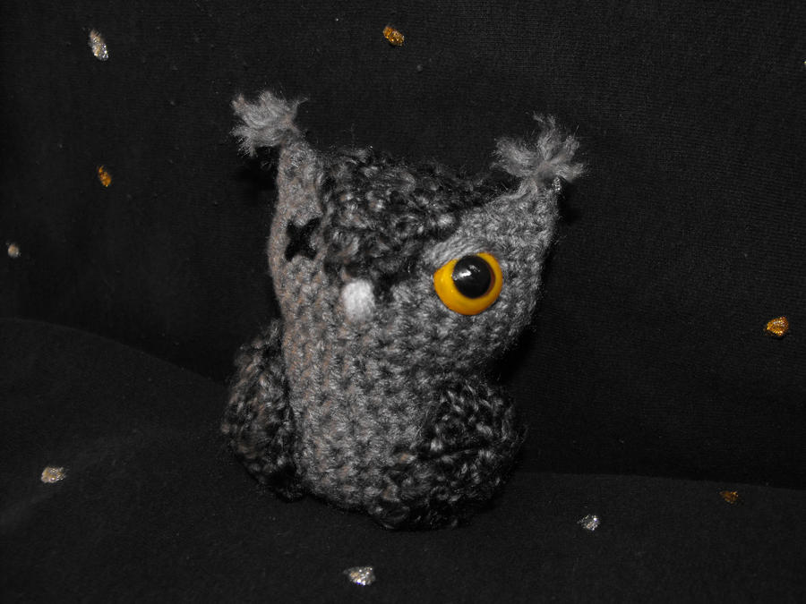 Grey Screech Owl by Ginger-PolitiCat
