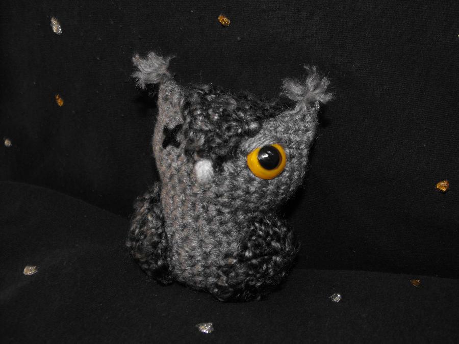 Grey Screech Owl by Ginger-PolitiCat