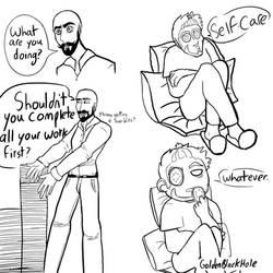 Self-Care by GoldenBlackHole