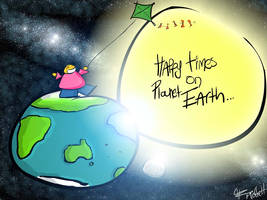 Happy Times on Planet Earth by moffett