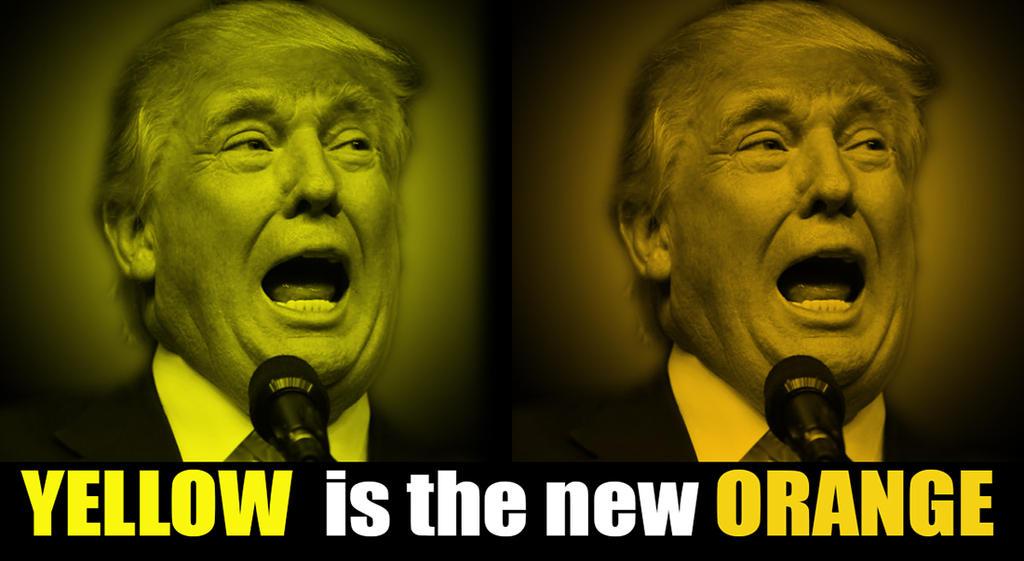 Yellow is the New Orange by WorldsCollideWeb