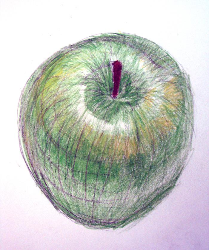 Contour Line Drawing Apple : Cross contour apple by samanthalindholm on deviantart