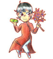 [RCA] Tu in ao dai by Dorydraws