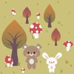 Bear and Bunny tile