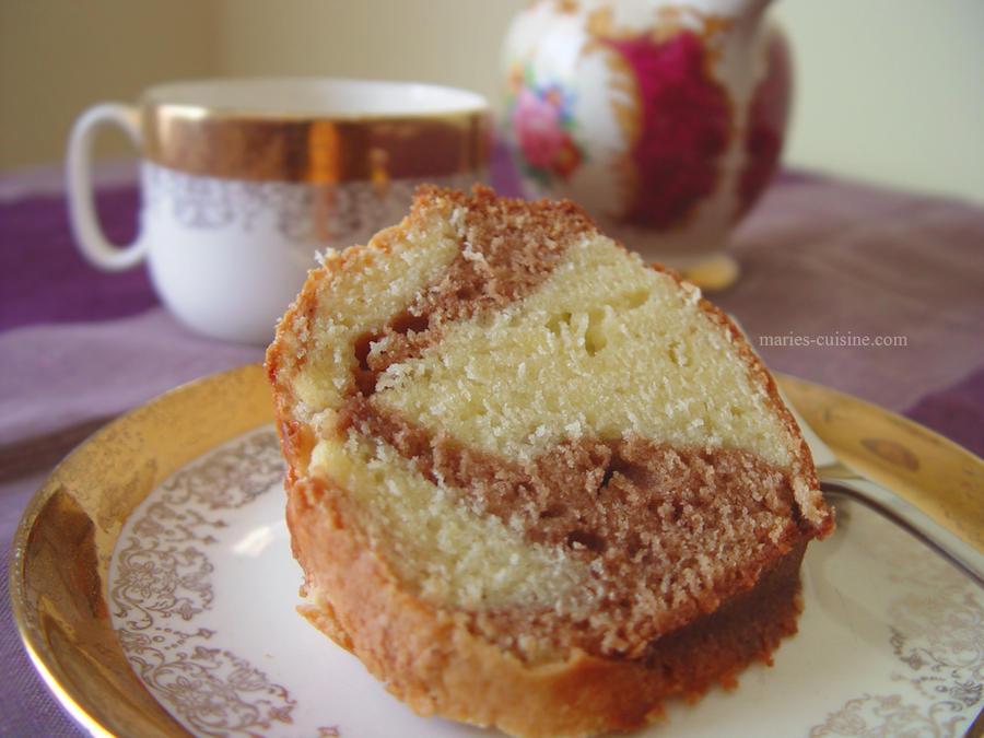 Marbled sour cream pound cake by maytel