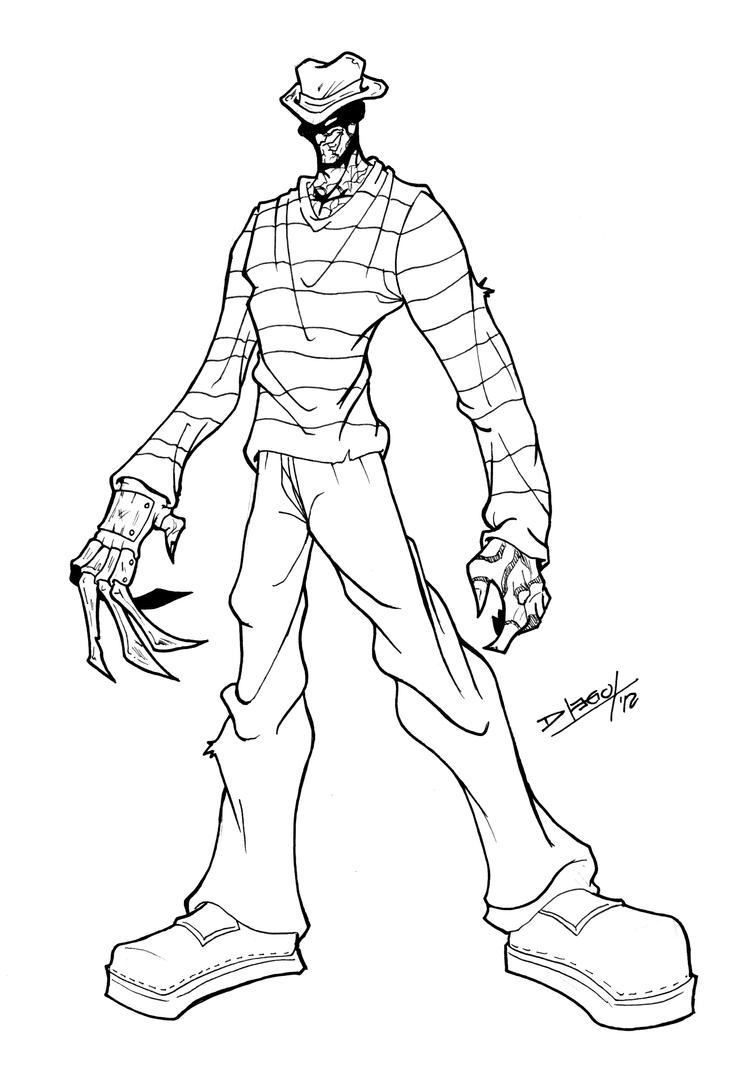 Freddy kruger coloring pages ~ Freddy Krueger #2 / A Nightmare on Elm Street by Zotto1987 ...