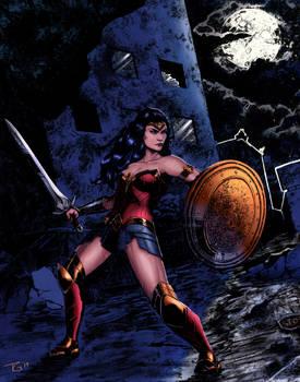 Wonder Woman Diptych Half