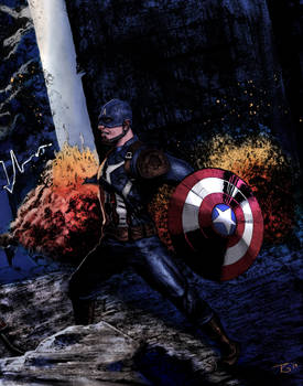 Captain America Diptych Half