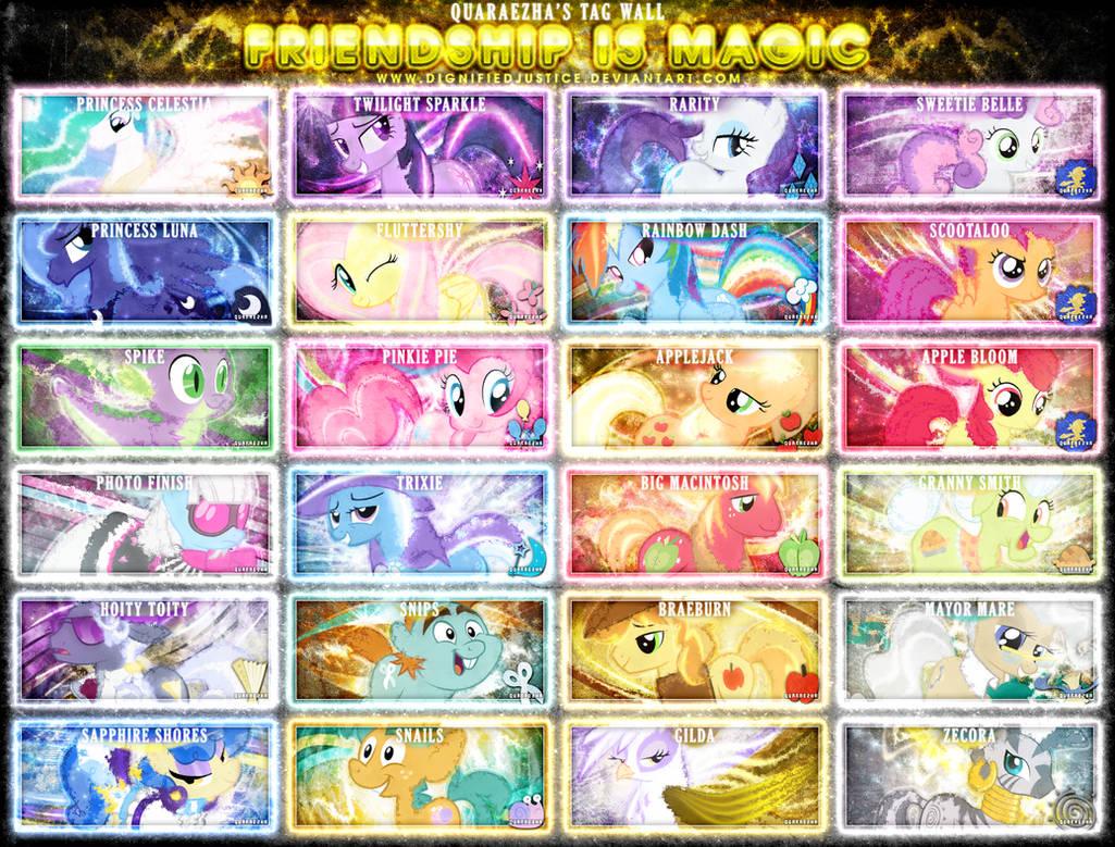 Friendship is Magic Tag Wall 4 by Paradigm-Zero