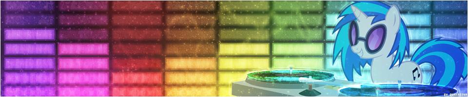 [Banner] DJ Pon3's Rainbow Rave by Paradigm-Zero